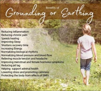 "Typical Earthing meme showing ridiculous claims of its ""benefits"""