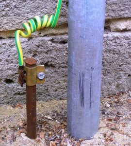 Typical grounding for a home or business