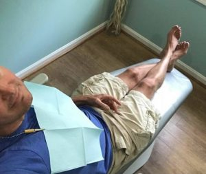 Going barefoot to a dentist's office is usually no problem
