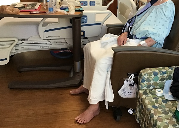 Being barefoot in a hospital is usually no problem