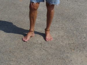Bare feet on rough asphalt at N.C. Mountain State Fair, during a happier and more inclusive time at the fair.