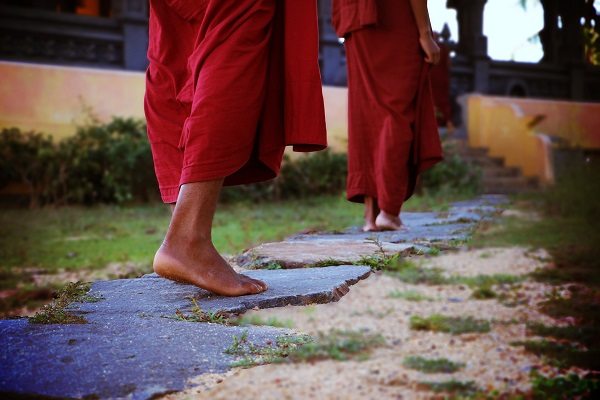 Bare feet are traditional in many religions around the world.