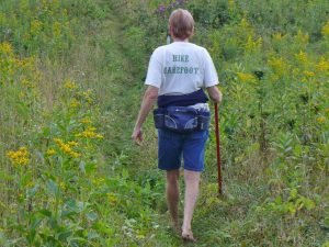 Hiking barefoot is eco-friendly, natural, and gentle to the earth's surface. Hiking boots and shoes damage the environment.
