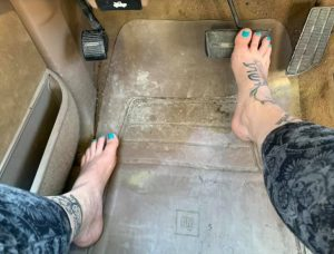 Applying brakes while barefoot is easier and safer than with shoes on.